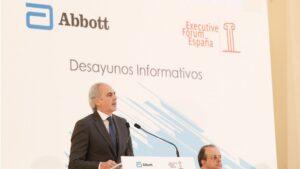El consejero de Sanidad de la Comunidad de Madrid, Enrique Ruiz Escudero, en un acto organizado por Executive Forum