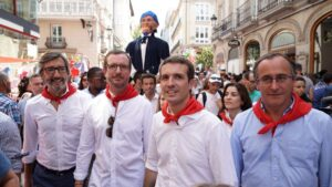 Pablo Casado, Javier Maroto y Alfonso Alonso.