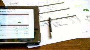 tablet analista graficos analisis
