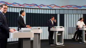 Debate entre Mariano Rajoy, Pedro Sánchez, Albert Rivera y Pablo Iglesias