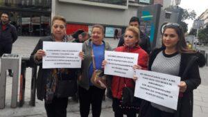 Las vecinas desahuciadas de Argumosa en una protesta el pasado 9 de abril