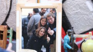Andrea Levy, Isabel Díaz Ayuso y José Luis Martínez-Almeida