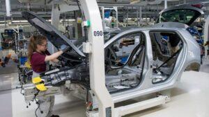 Volkswagen cadena montaje coches eléctricos