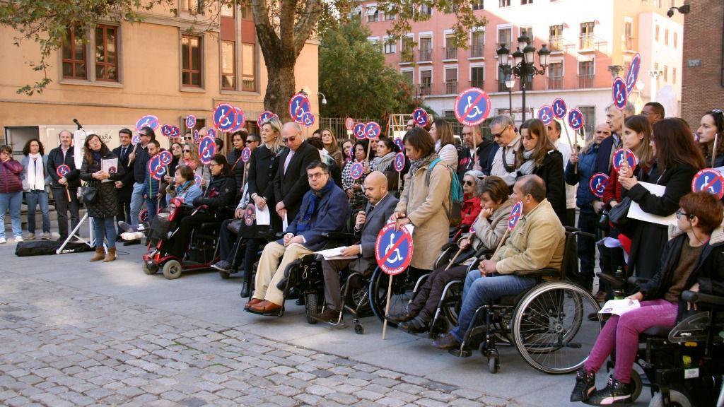 Manifestación por la accesibilidad universal