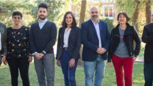Los miembros del Alto Comisionado contra la pobreza infantil. En el centro, Sandra León Alfonso