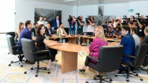 Reunión PP y Ciudadanos con Ignacio Aguado e Isabel Díaz Ayuso