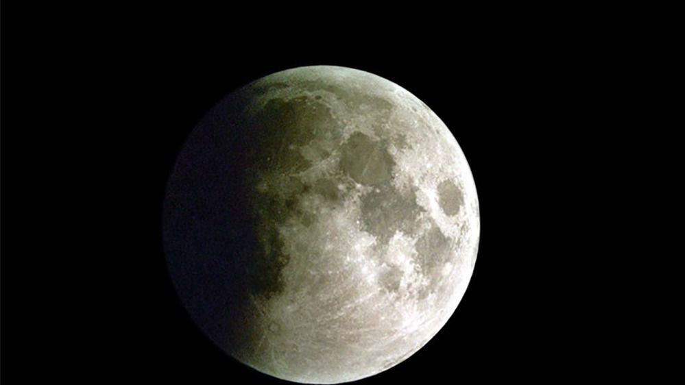 La Luna durante un eclipse lunar parcial