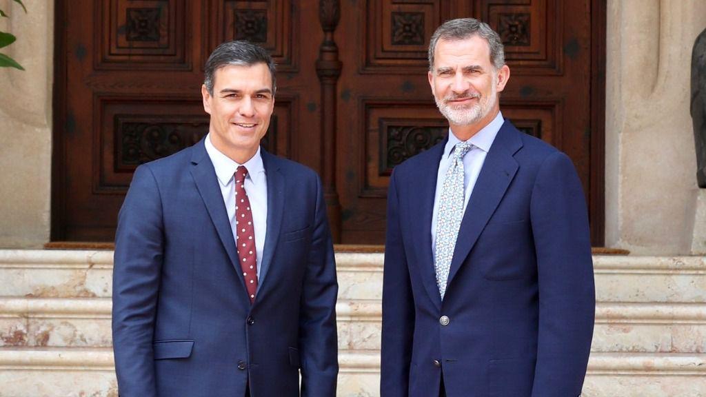 Pedro Sánchez y Felipe VI