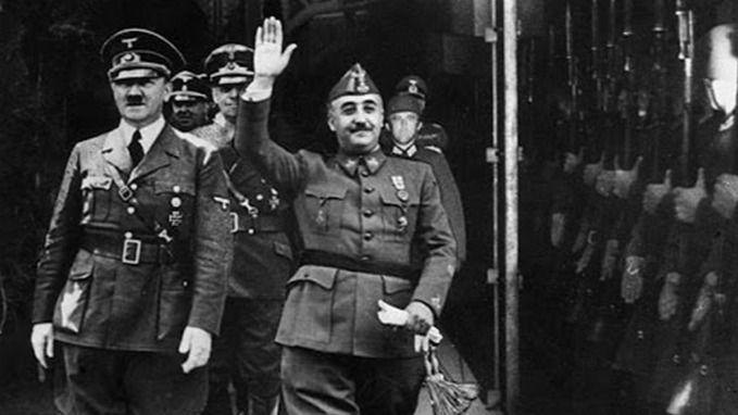 Adolf Hitler y Francisco Franco en Hendaya