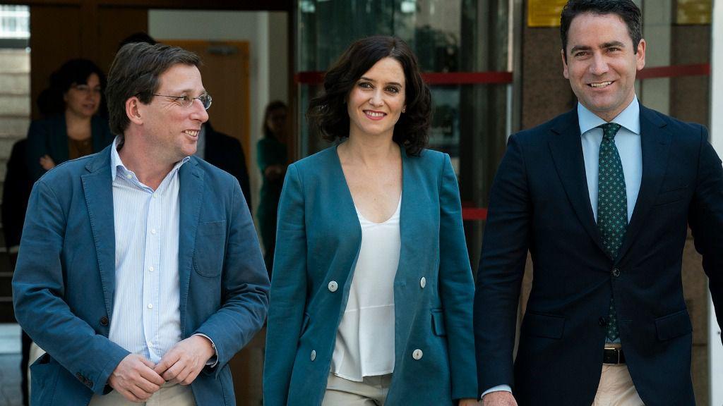 José Luis Martínez Almeida, Isabel Díaz Ayuso y Teodoro García Egea