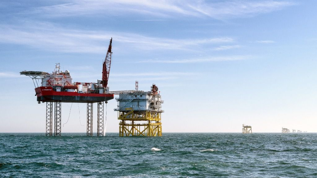 Instalación subestación parque eólico marino Iberdrola EAO