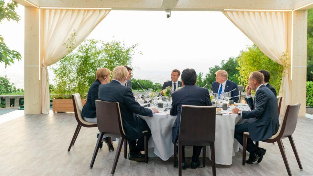 Cena de los miembros del G7 en Biarritz