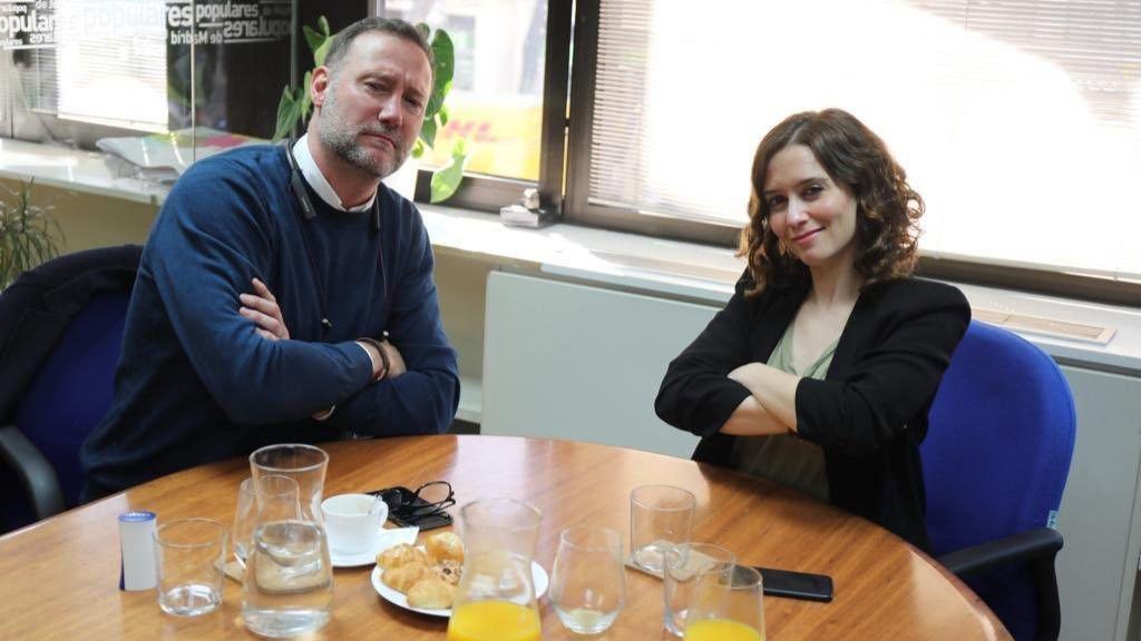 Pedro García Aguado e Isabel Díaz Ayuso