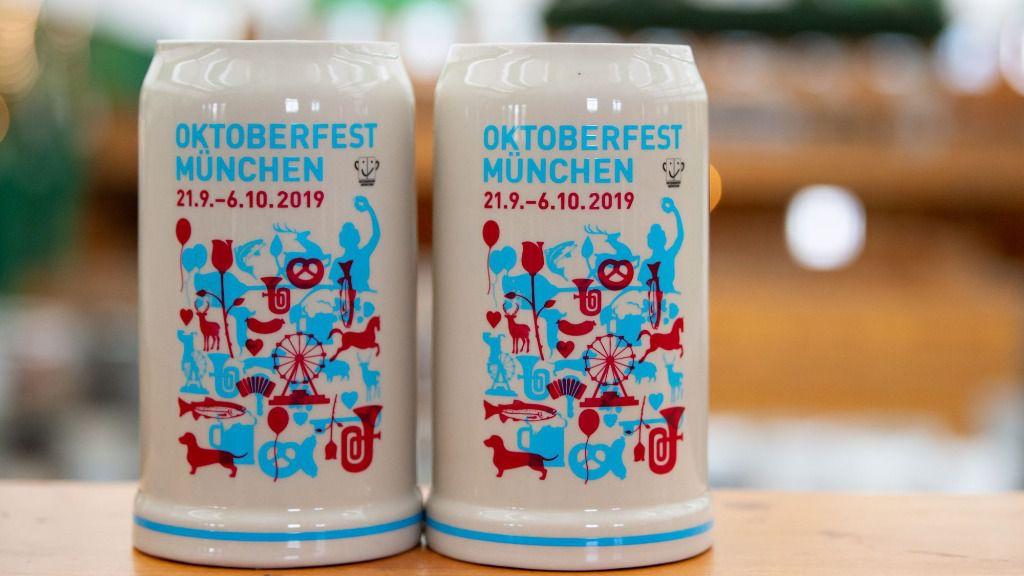 Jarra oficial de la Oktoberfest o Fiesta de la Cerveza de Múnich 2019