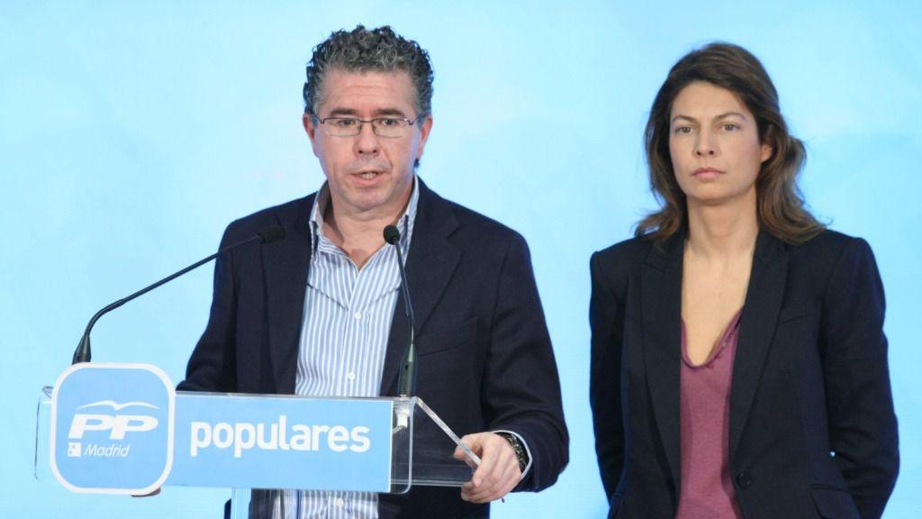 Lucía Figar Exconsejera de Eduación de la Comunidad de Madrid y Francisco Granados