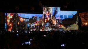 Una videoinstalación en la ciudad polaca de Wielun recuerda el ataque de Alemania a Polonia que marcó el comienzo de la Segunda Guerra Mundial