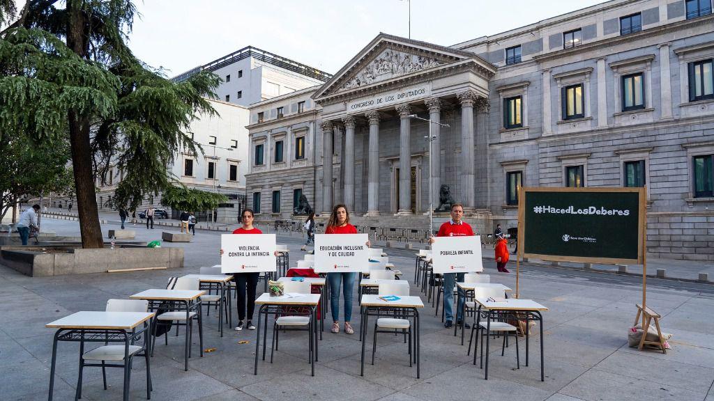 La ONG recuerda que inactividad política tiene consecuencias en el presente y el futuro de los menores (Foto Save the Children)