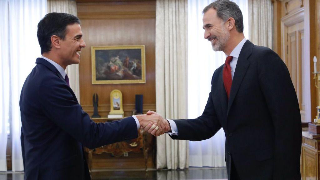 Rey Felipe VI y Pedro Sánchez