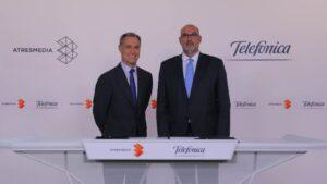 Silvio González, consejero delegado de ATRESMEDIA, y Emilio Gayo, presidente de TELEFÓNICA España