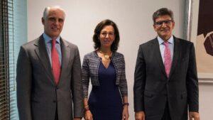 Andrea Orcel, Ana Botín, José Antonio Álvarez