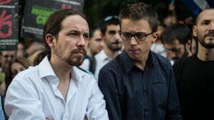 Pablo Iglesias, secretario general de Podemos e Íñigo Errejón