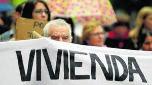 Manifestación por el derecho a la vivienda.