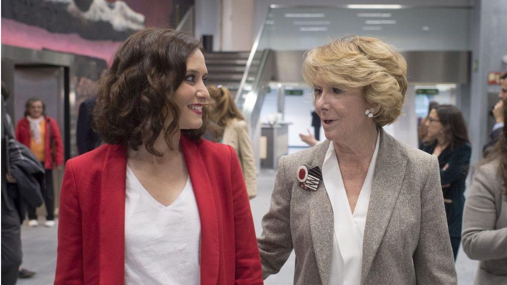 Esperanza Aguirre e Isabel Díaz Ayuso