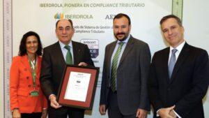 Iberdrola recibe certificado AENOR 'Compliance' Tributari