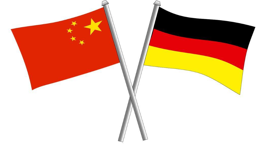 China Alemania banderas