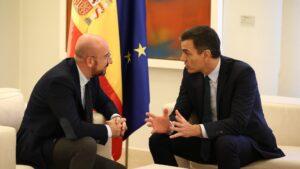 Pedro Sánchez y Charles Michel