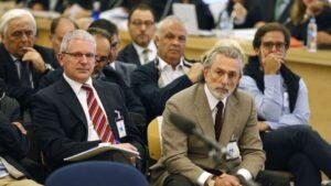 Francisco Correa y Pablo Crespo en el juicio de la Gürtel.