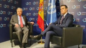 Pedro Sánchez y Antonio Guterres