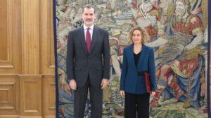 Felipe VI y Meritxell Batet