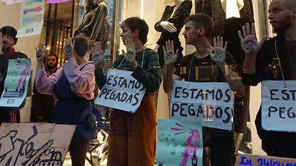 Protesta en el Zara de Madrid
