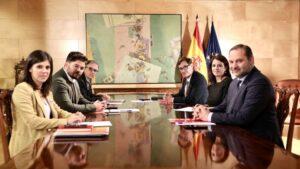 Adriana Lastra, Gabriel Rufián, José Luis Ábalos y Marta Vilalta