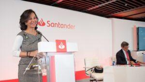 La presidenta de Banco Santander, Ana Botín, y el consejero delegado, José Antonio Álvarez