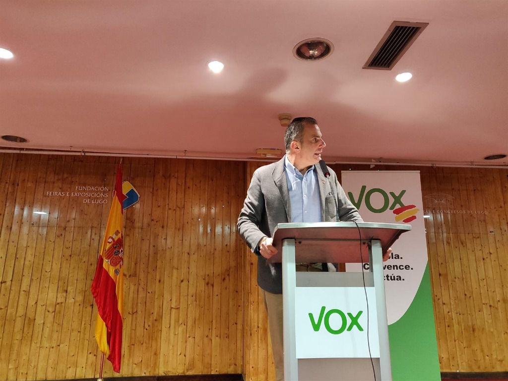 El secretario general de Vox, Javier Ortega Smith, en Lugo