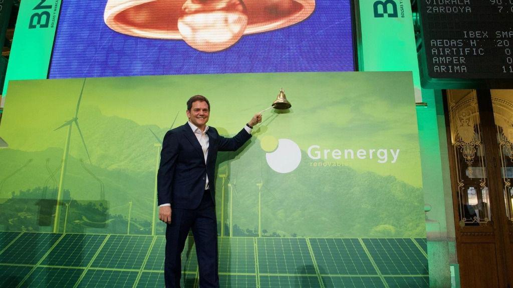 David Ruiz de Andrés, fundador y consejero delegado de Grenergy, en la Bolsa de Madrid
