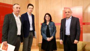 Adriana Lastra, Rafael Simancas, Íñigo Errejón y Joan Baldoví