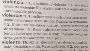 Violencia RAE