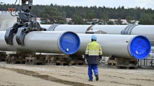 Las obras de construcción del gasoducto Nord Stream 2 en Lubmin, en el noreste de Alemania, en una imagen del 26 de marzo de 2019