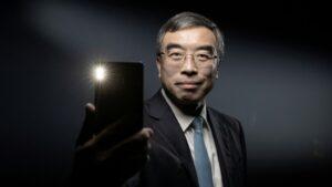 El presidente de Huawei, Liang Hua, el 16 de diciembre de 2019 en París