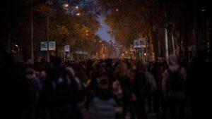 Manifestación convocada por Tsunami Democratic por el partido entre el FC Barcelona-Real Madrid en el Camp Nou, a 18 de diciembre de 2019