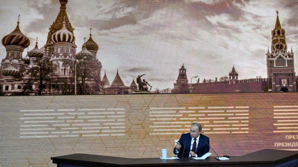 El presidente de Rusia, Vladimir Putin, ofrece su rueda de prensa anual el 19 de diciembre de 2019 en Moscú