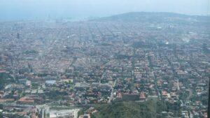 Vista De Barcelona Desde Collserola, Contaminación
