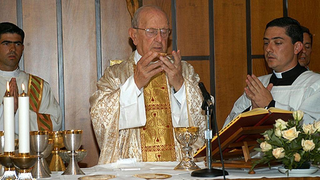 Marcial Maciel, fundador de la congregación católica Legionarios de Cristo, el 15 de agosto de 2005 en Roma