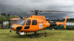 Helicóptero de UDF, distribuidora eléctrica de Naturgy, para solventar las incidencias del temporal