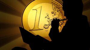 Euro hombre dinero negocios