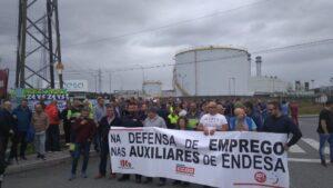 Protesta de trabajadores en As Pontes