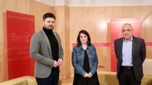 Gabriel Rufián, Adriana Lastra y Rafael Simancas